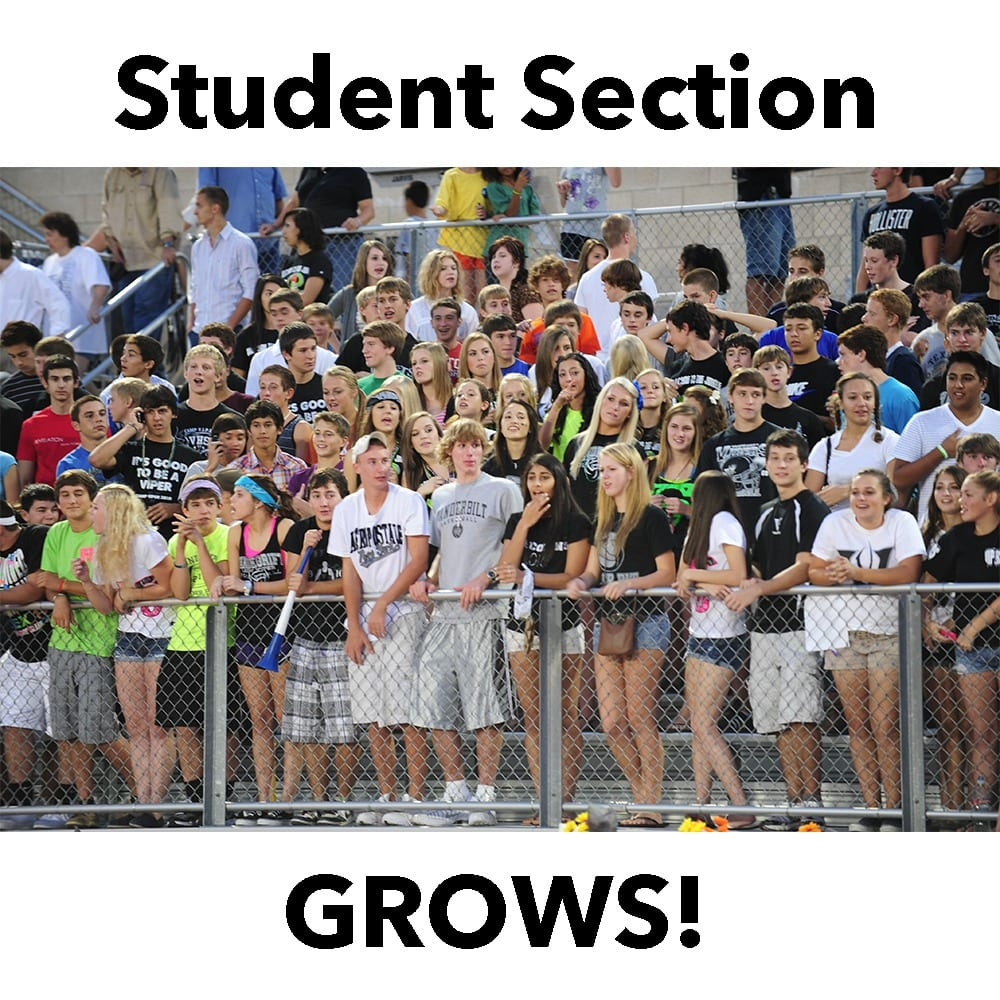2010 Student Section Grows